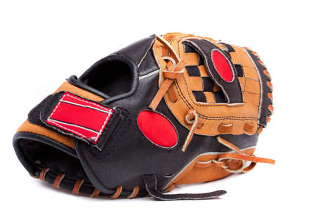 A baseball glove  on a white background photo