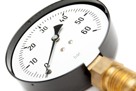 Pressure Gauge isolated On White 写真素材