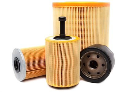 Filters for car isolated on a white background