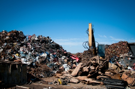dump yard: Recycling of metals Stock Photo