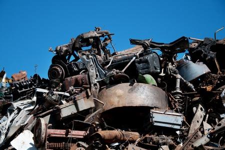 Recycling von Metallen Standard-Bild