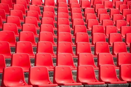 folding chair: red stadium seats