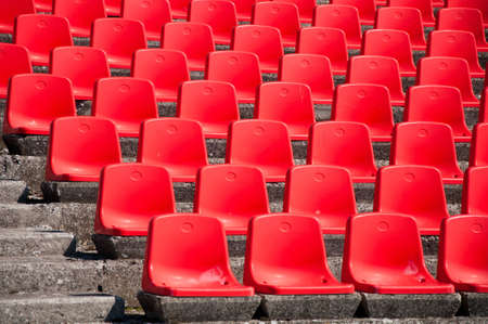 red stadium seats photo