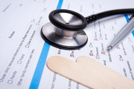 Medical Form   Stethoscope photo