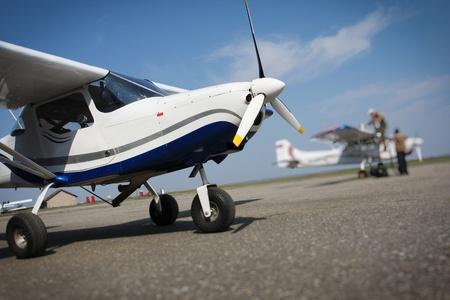 Small airplane Standard-Bild