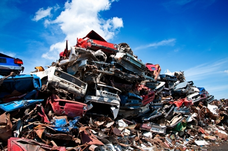 salvage yard: Car scrap