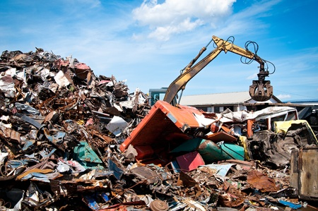 junkyard: Chatarra de coches Foto de archivo