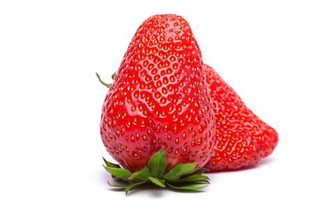 Strawberries isolated on white background photo
