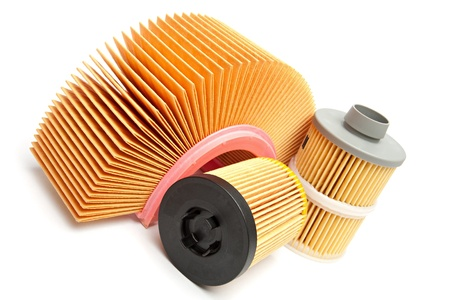 lubricate: Car filters Stock Photo