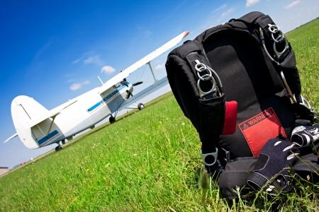 fallschirm: Fallschirmspringen Fallschirm bereit f�r den internationalen Wettbewerb