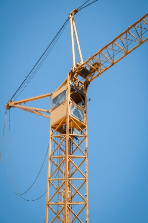 Cabin of the construction crane photo