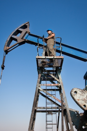 fulcrum: Oil worker