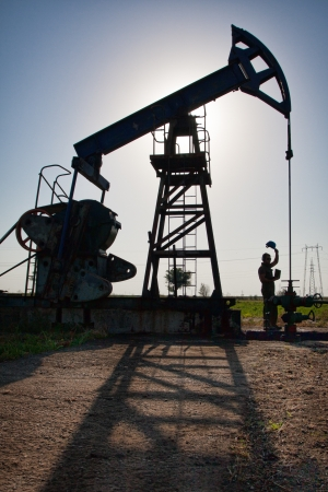 Pumpjack in the sunset photo