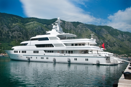 Large luxury yacht