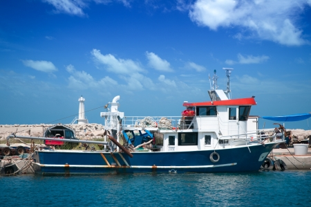 commercial fisheries: Fishing ship in the port