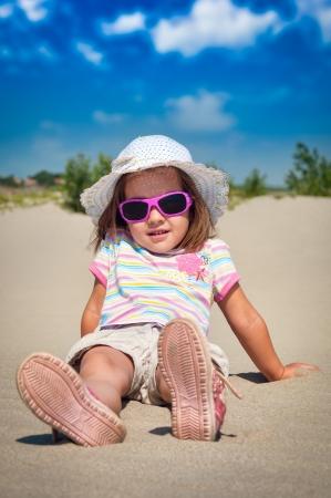 little girl on beach Stock Photo - 14401713
