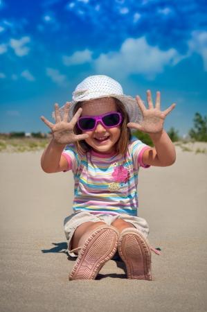 little girl on beach Stock Photo - 14402716