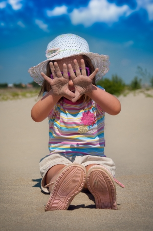 little girl on beach Stock Photo - 14402715