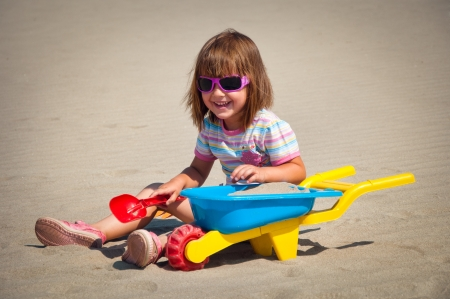 little girl on beach Stock Photo - 14402713