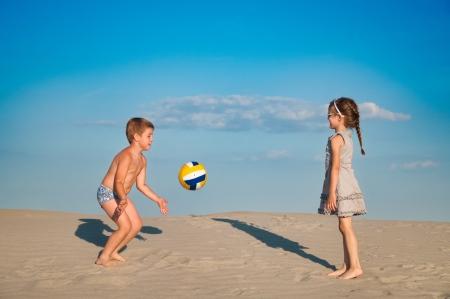 pensacola: children on the beach