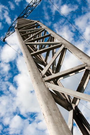 Power tower in the sky background Stock Photo - 14504518