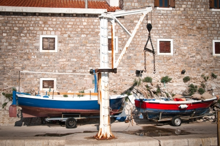 Traditional Adriatic house in Montenegro photo