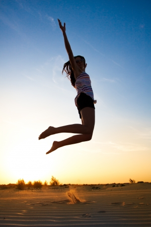 Girl in the sunset Stock Photo - 14722715