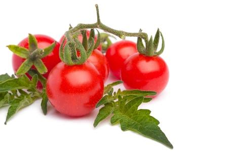 tomate cherry: Tomate cereza peque�a Foto de archivo