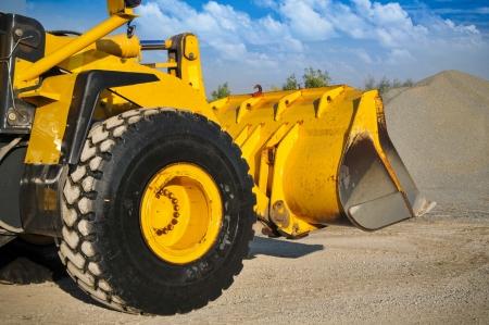 Bulldozer op het werk Stockfoto