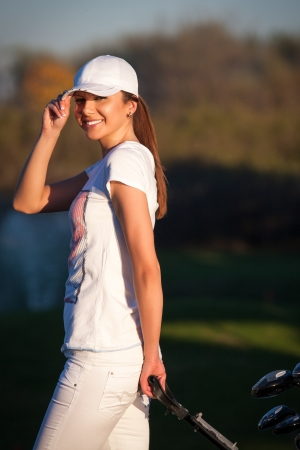 Woman playing golf Stock Photo - 16008182