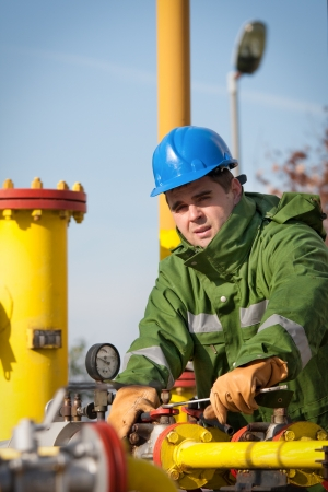 Gas Production Operator Stock Photo - 16609193