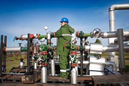 Gas Production Operator Standard-Bild - 16603963