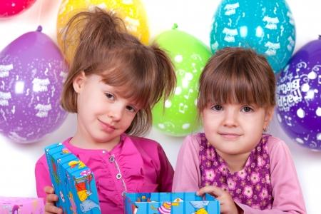 kids celebrating birthday party photo