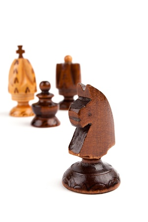 Chess figure isolated on the white background photo