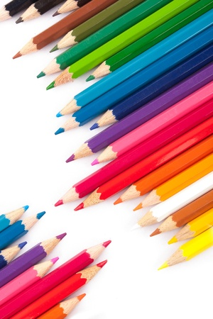 Colorfull crayons on white background  Stock Photo - 17211801