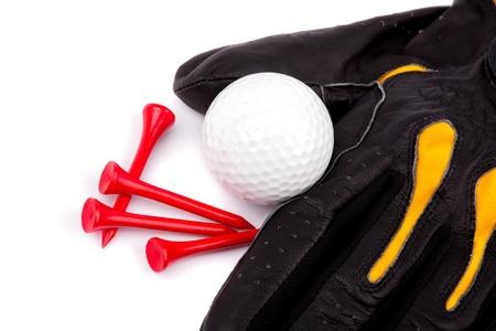 golf glove: Golf Glove Ball and tees