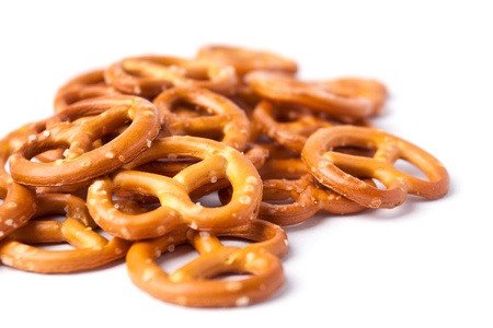Cookies pretzels on a white background Stock Photo - 18076408