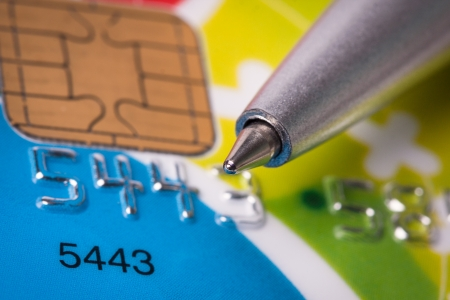 Credit card and pen close up Stock Photo - 18707557