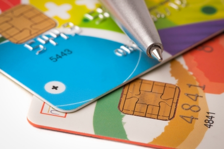 Credit card and pen close up Stock Photo - 18707550