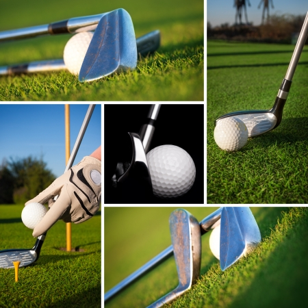 Golf concept collage 스톡 콘텐츠