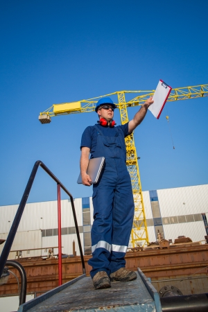 Shipyard worker photo