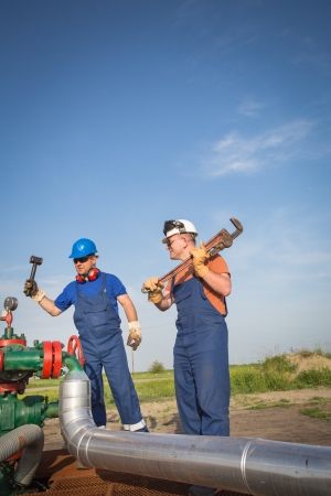 Oil workers photo