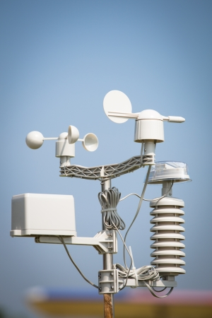 weather forecast: wind meter Stock Photo