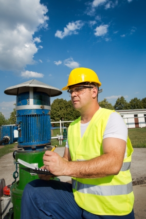 Oil and Gas Production Operator Stock Photo - 21001861