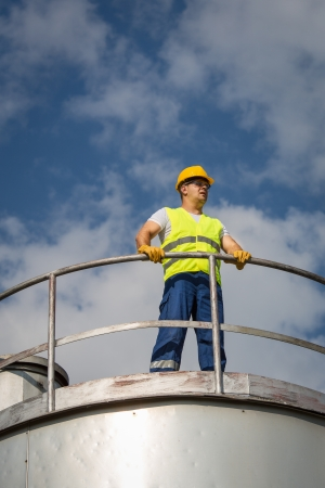 Oil and Gas Production Operator Stock Photo - 21001833