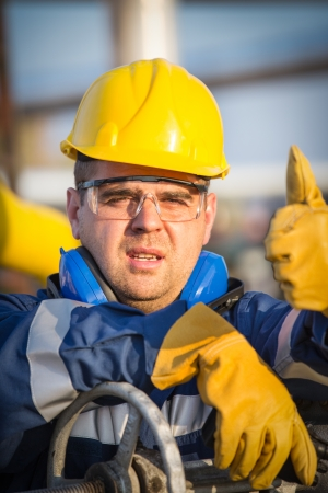 system operator in oil and gas production Stock Photo - 22520854