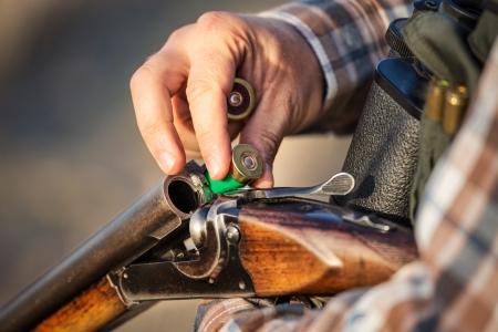 Plein fusil de chasse de chasseur Banque d'images - 22819585