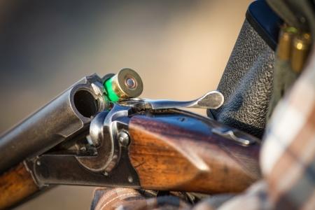 plein fusil de chasse de chasseur