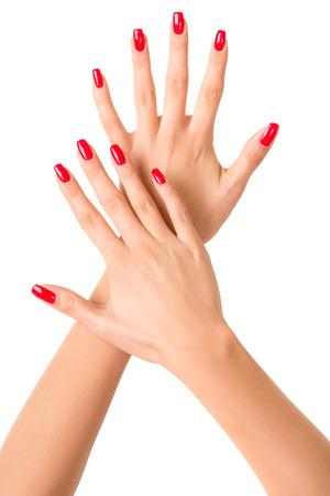 Manicured nails Stock Photo