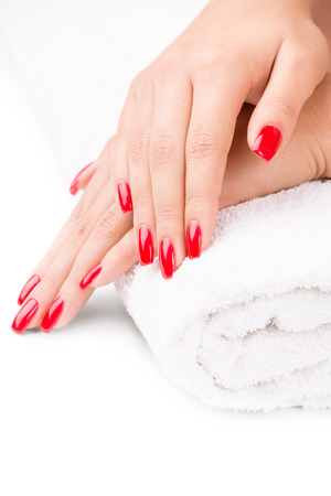 Manicured nails Stock Photo